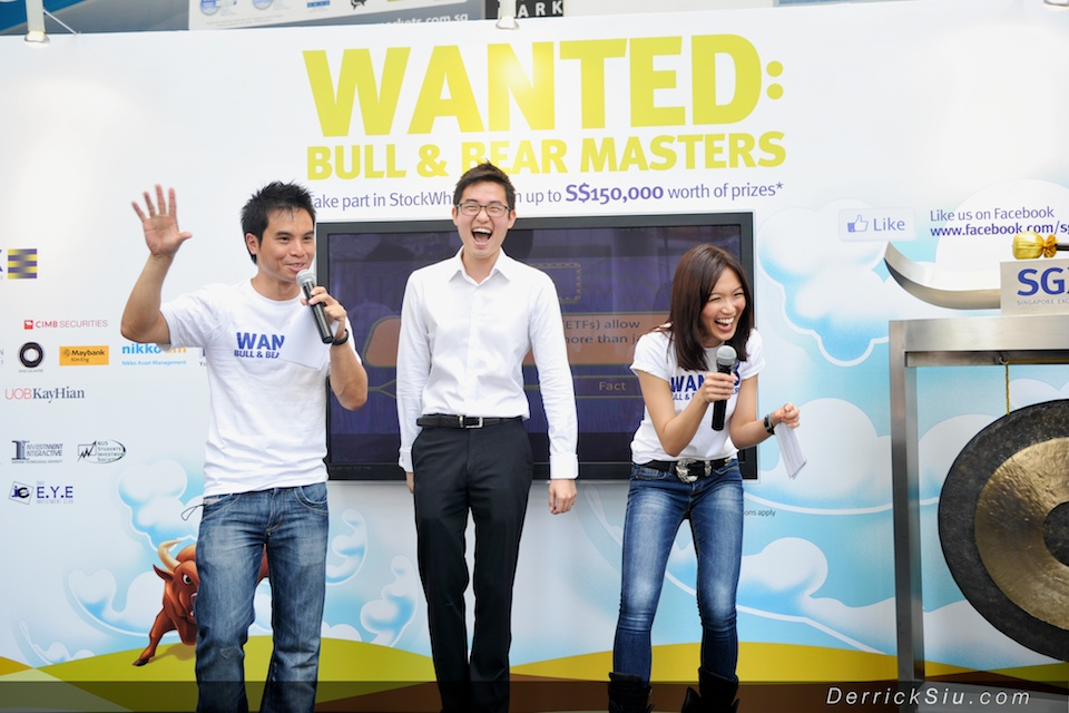 SGX StockWhiz Roadshow @ Raffles Place with Joanne Peh - 22nd Aug 2012